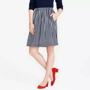 J. CREW Mercantile Striped Skirt with Pockets